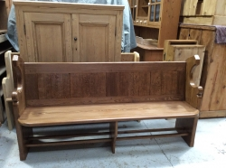 Amazing Grained Pitch Pine Pews - Antique