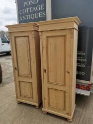 Dutch single door larder linen cupboards