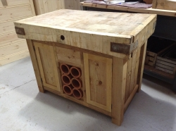 double sided island unit butchers block