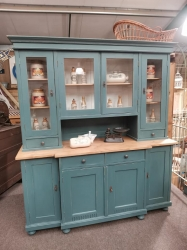 Large antique dutch dresser painted in Inchyra Blue