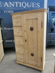 Tall antique pine dutch food larder cupboard SOLD