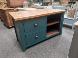Large island unit with 2 drawers and open slots
