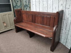 Old Oak church pew with carved ends SOLD