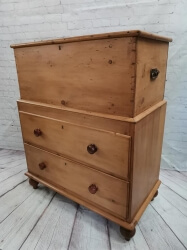 Rare Dowry Chest with Drawers Underneath