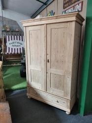 Double Antique pine Dutch wardrobe