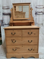Victorian Pine Dressing Table Chest of Drawers - SOLD