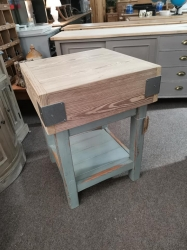 Dummy style Butchers Block with distressed painted base