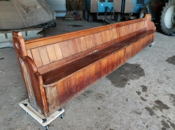 14ft long church pew ...totally original. Only this one left
