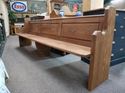 Long Pitch Pine Dutch Church Pew SOLD