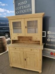 Antique pine dutch dresser with spice drawers