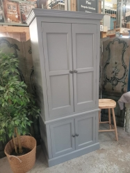 Painted Plummet larder cupboard with spice racks      1 ONLY