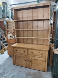 Tall racked old Victorian dresser