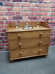 Victorian Pine Chest with Up-stand SOLD