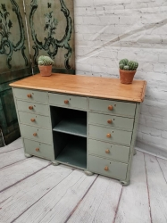 Victorian pine painted sideboard ...Small and cute
