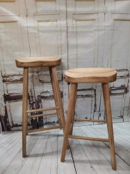 Oak Farmhouse Stool. High and low available