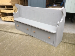 Painted Pew with drawers