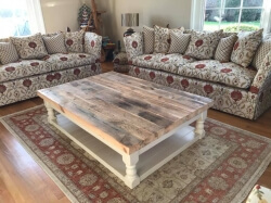 Large Coffee Tables With Rough Saw Top