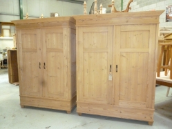 Antique Wardrobes -  A pair