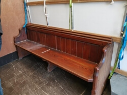 Antique pine church pews NEW STOCK - ALL SOLD NOW