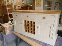 Handmade sideboard with wine rack