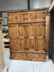 Rough Sawn, Waxed or Painted Wardrobes