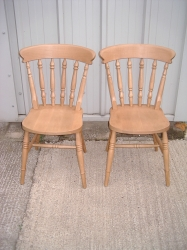Low Back Spindle Chair