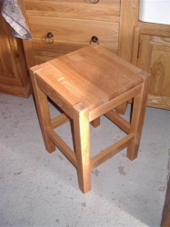 Breton Low Oak Stool Square