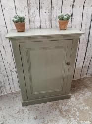 Palle green painted single door cupboard