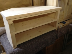handmade corner TV unit post style legs