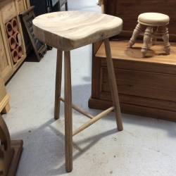Oak 3 Leg Bar Stool
