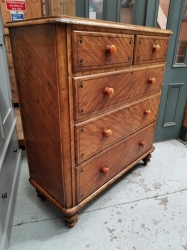 Victorian Pine Chest of Drawers in Original Scrumble SOLD
