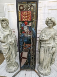 Amazing Piece of Stain Glass with Hand Painted Detail