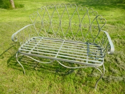 Wire Bench - Green