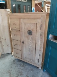 Antique pine Dutch larder cupboard ..ideal for painting or waxing