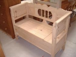 Panelled Back Dutch Bench 4ft