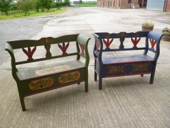Hand painted Tulip bench 4ft