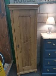 Antique pine single door linen cupboard SOLD