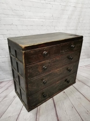 Painted / crackled Victorian chest of drawers SOLD