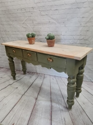 Victorian pine painted sofa table SOLD