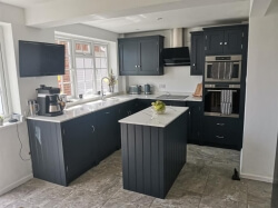 Handmade Painted Kitchen in farrow and ball Railings