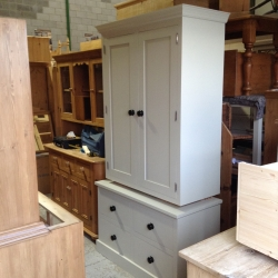 Larder unit painted in old white