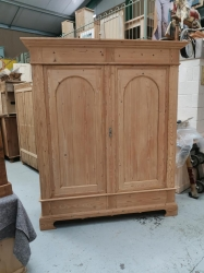 BIG antique dutch wardrobe with arch topped doors