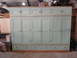 3m wide wardrobe with top boxes hand made shaker style