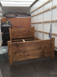 Pine - Chunky Rough Sawn Planked Bed