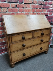 Rare Antique Victorian pine Bureaux SOLD