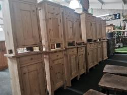 Old Pine antique dutch bedsides