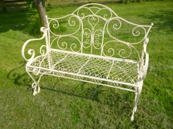 Wire Bench - Cream