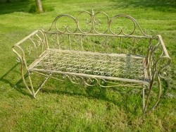Wire Bench Ornate