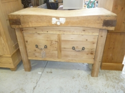 Butchers Block with 2 Drawers - SOLD