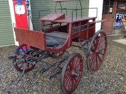 Horse drawn dog cart c1904